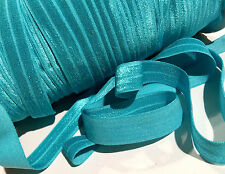"5 yards tornado blue 5/8"" fold over elastic FOE DIY baby headbands & hair ties"