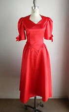 Vintage Women's 1980s Red Formal Dress , Size 4, Prom, Costume, Party