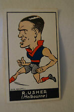 MELBOURNE - R. USHER  - VINTAGE 1930's BOB MIRAMS CARICATURE CARD