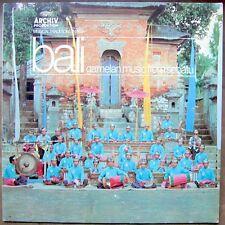 BALI Gamelan Music From Sebatu LP ETHNIC MINT!