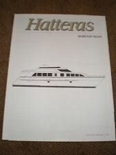 1997 HATTERAS 84 MOTOR YACHT MARKETING / SPECIFICATIONS BROCHURE