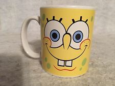 Spongebob Squarepants Yellow Face 2 Expression Ceramic Coffee Mug Viacom 2005.