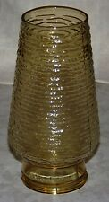 Vintage Anchor Hocking Soreno Honey Gold Amber Patio Lamp Shade Only 2 Available