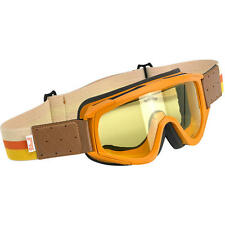 BILTWELL OVERLAND GOGGLES - ORANGE & BROWN **WORLDWIDE SHIPPING**