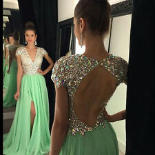 Green Backless Bridesmaid Evening Dresses 2016 Cocktail Dress Prom Party Gown
