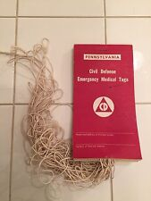 COLD WAR PENNSYLVANIA CIVIL DEFENSE EMERGENCY MEDICAL TAGSS