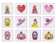 24 Temporary Princess tatoos pack of 12 diferrent individual tatoos Boys Girls
