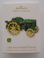 Hallmark 2010 John Deere Model D Tractor Die Cast Metal Christmas Ornament