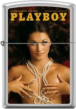 Zippo Playboy November 1970 Cover Satin Chrome Windproof Lighter NEW RARE