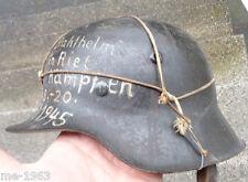 original Helm Stahlhelm WH M 42  mit Beschriftung 1945
