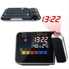 LCD Digital LED Projector Projection Alarm Clock Weather Thermometer Calendar ##
