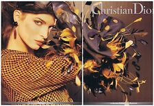 PUBLICITE ADVERTISING 104 1991 CHRISTIAN DIOR haute couture (2 pages)