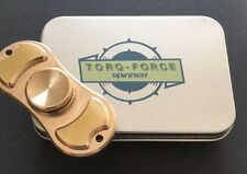 New TORQFORCE Brass Hand Fidget Spinner Torqbar  EDC W/ Metal Case 4-7 Spin Time