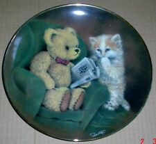 Franklin Mint Collectors Plate Teddy Bear SOMETHING E SOMETHING R