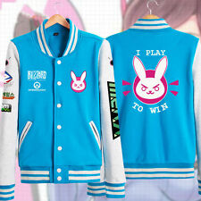 Anime Overwatch Cute D.VA Cosplay Sweater Jacket Hoodie Costume Any Size
