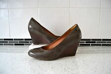 "STUNNING NEW CLARK`S ""ELSA PURITY"" MUSHROOM PATENT /LEATHER LINED SHOES UK 5.5"