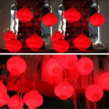 2.5M 10 LED Red Chinese Lantern Fairy String Lights New Year Party Decor Lamp
