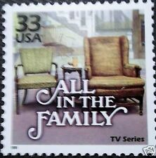 US commemorative stamp TV television show All in the Family Archie Bunker chair