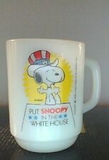 Vintage Peanuts Snoopy Anchor Hocking Fire-King Mug Nice Condition