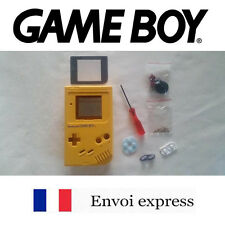 Coque GAME BOY fat original JAUNE NEUF Yellow NEW + tournevis - étui shell case