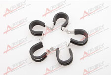 """5PCS Cushioned Hose Mounting Clamp Loop Strap 304 Stainless Steel 1 3/4"""" Black"""