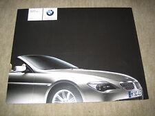 BMW 6er 645Ci Cabrio Cabriolet E64 Prospekt Brochure von 2/2003, 32 Seiten