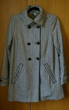 H&M 60's vintage style checked swing pea coat size 14