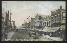 POSTCARD CALGARY CANADA A.W. WARD GROCER & BUSINESS STORE FRONT 1905