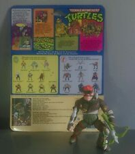 Rare 1989 Vintage Teenage Mutant Hero Turtles  RAT KING Figure with backing