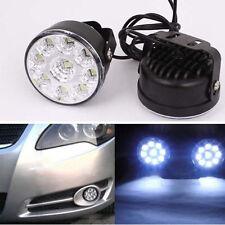 2X 12V 9 LED Auto Rund Tagfahrlicht Tagfahrleuchten DRL Nebel Lampen Licht Weiß
