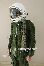 SPACESUIT FLIGHT HELMET AIRTIGHT ASTRONAUT PILOT HELMET  FLYING SUIT