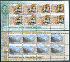 RUSSIA 1999. Field Marshal Suvorov's Alpine Comp. Bicent. Full Sheets (2). MNH