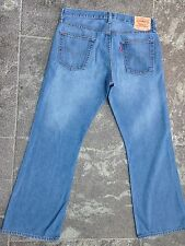 LIMITED EDITION LEVI'S 527 LOW BOOT CUT BLUE JEANS W 34 L 30 VERY GOOD CONDITION