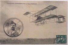 FRANCE 1910 PICTURE POST CARD SHOWING AVIATOR LIEUTENANT CAMMERMANN & BIPLANE