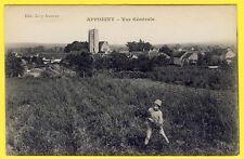 cpa Bourgogne 89 - APPOIGNY (Yonne) Vue Générale Animé Enfant Champs