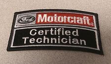 NEW FORD MOTORCRAFT CERTIFIED TECHNICIAN TECH WHITE RED BLACK STITCHING PATCH