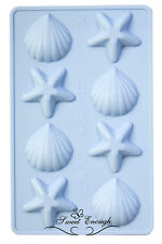 Sea Shell Star Mould mold Silicone Chocolate Cup cake topper decoration