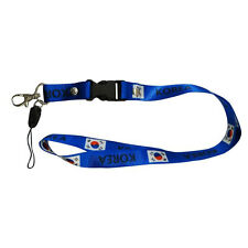 KOREA BLUE COUNTRY FLAG LANYARD KEYCHAIN PASSHOLDER ..NEW