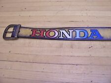 Vintage NOS Honda Motorcycle Leather Belt 1970's