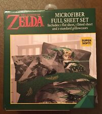 The Legend Of Zelda Skyward Sword Microfiber Full Bedding Sheet Set NIB!