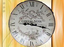 Wanduhr Cheval Noir D.35cm Email Glass Batt Geschenk vintage Ästhetik Rarität