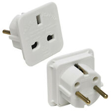 UK to EU Euro Europe European Indian Pakistani Travel Plug Adapter Adaptor