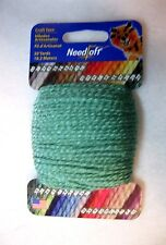 NEEDLOFT CRAFT YARN MERMAID GREEN #53  for PLASTIC CANVAS by COTTAGE MILLS
