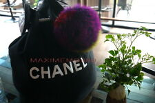 Chanel Black Canvas Drawstring Bucket LARGE Bag Cosmetic VIP Gift- Free Shipping