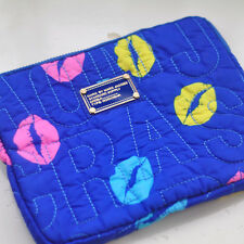 MARC BY MARC JACOBS IPAD AIR BLUE&COLORS LIPS PROTECTIVE SLEEVE CASE ZIPPER BAG