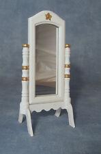 In Legno Bianco Cheval Specchio,Miniatura Per Casa Delle Bambole,Cameretta