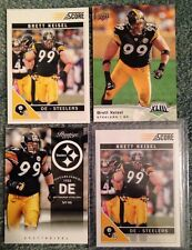 4 different Brett Keisel Card Lot Pittsburgh Steelers BYU Cougars