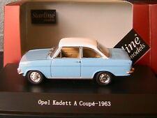 OPEL KADETT A COUPE 1963 AZURE HAWAI WHITE STARLINE 550215 1/43 BLEU AZUR BLANC