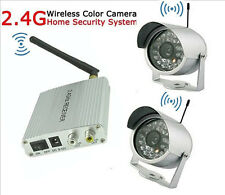 New 2.4G Wireless Color IR Camera Home Outdoor CCTV Security Video System