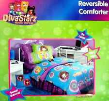 DIVA STARZ DOTZ TWIN COMFORTER SHEETS BEDSKIRT VALANCE  6PC BEDDING SET NEW.